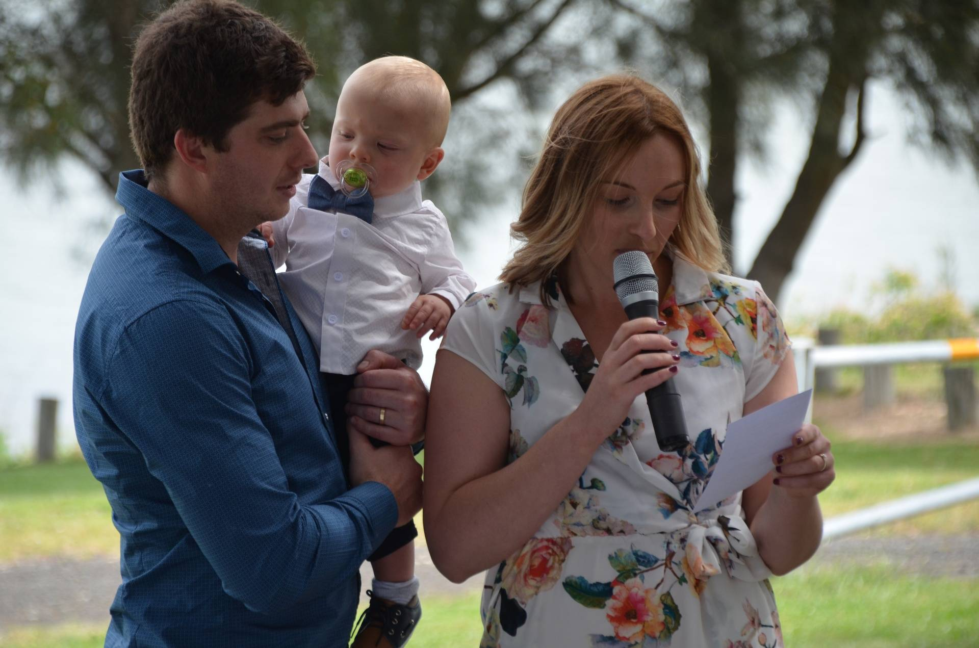 Lisa and Ben's Naming day for James