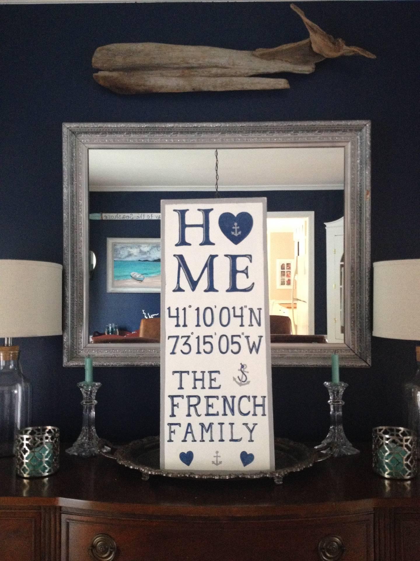 Housewarming signage