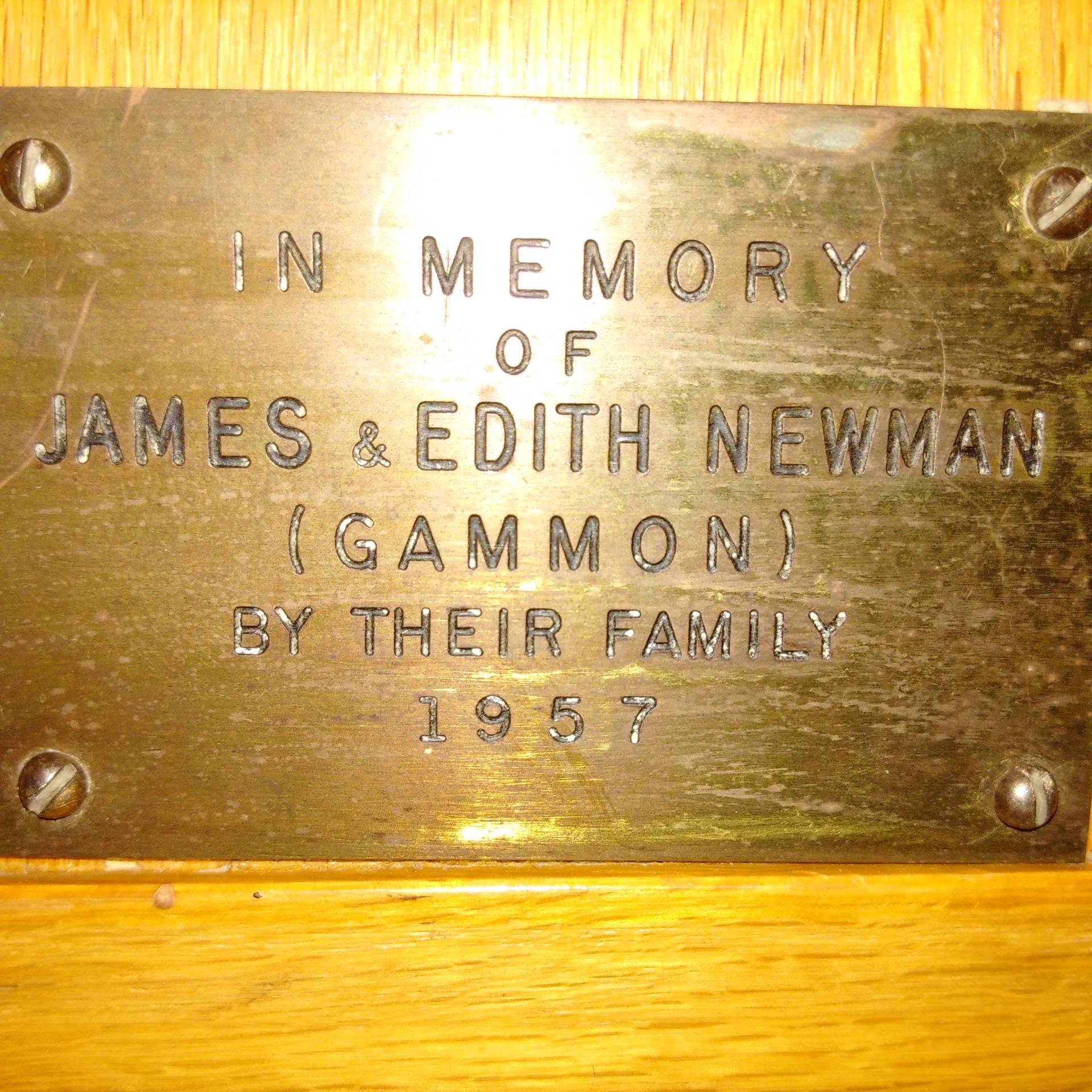 James and Edith Newman 1957