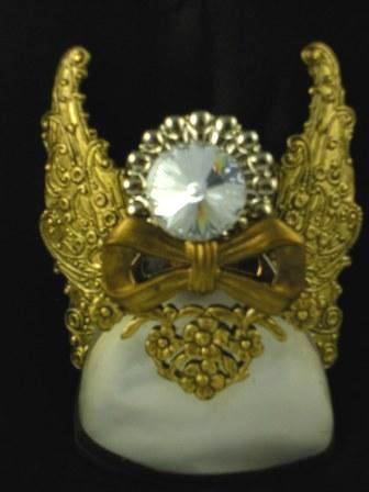 09-00091 Brass Angel Pin or Pendant