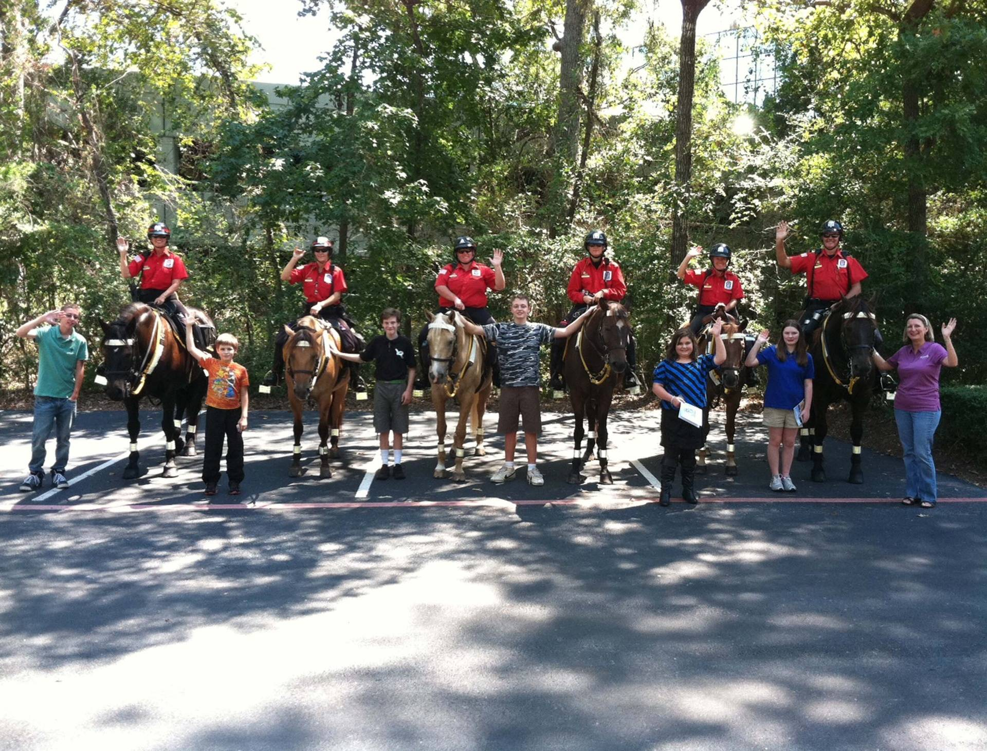 Visit from Mounted Police 2012
