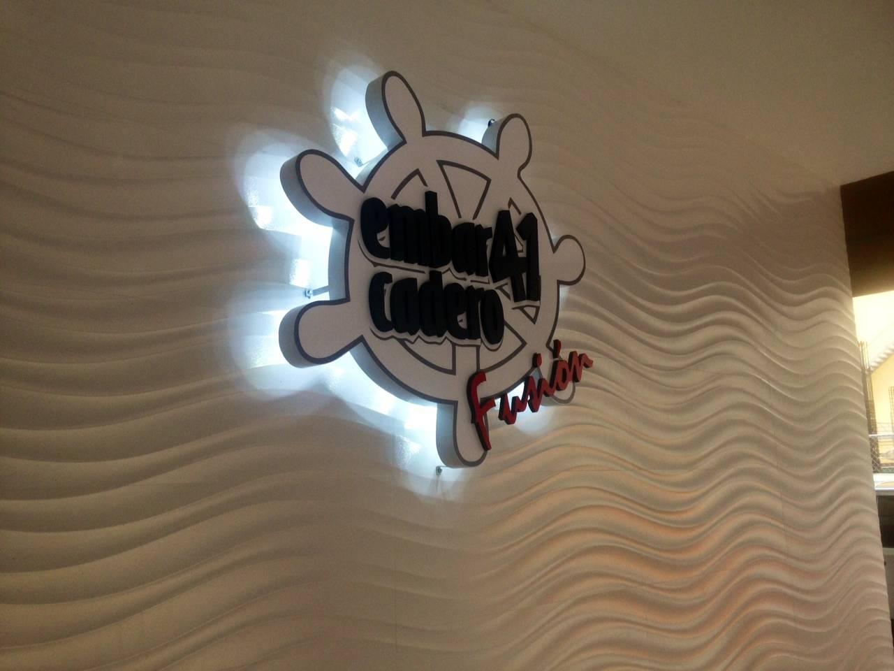 Back lit channel logo