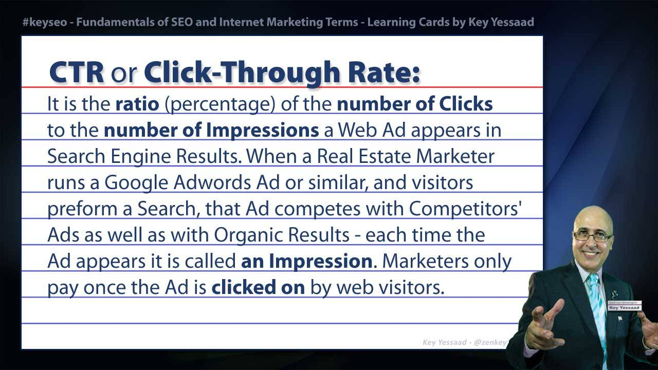 CTR or Click-Through Rate - Internet Marketing and SEO Glossary