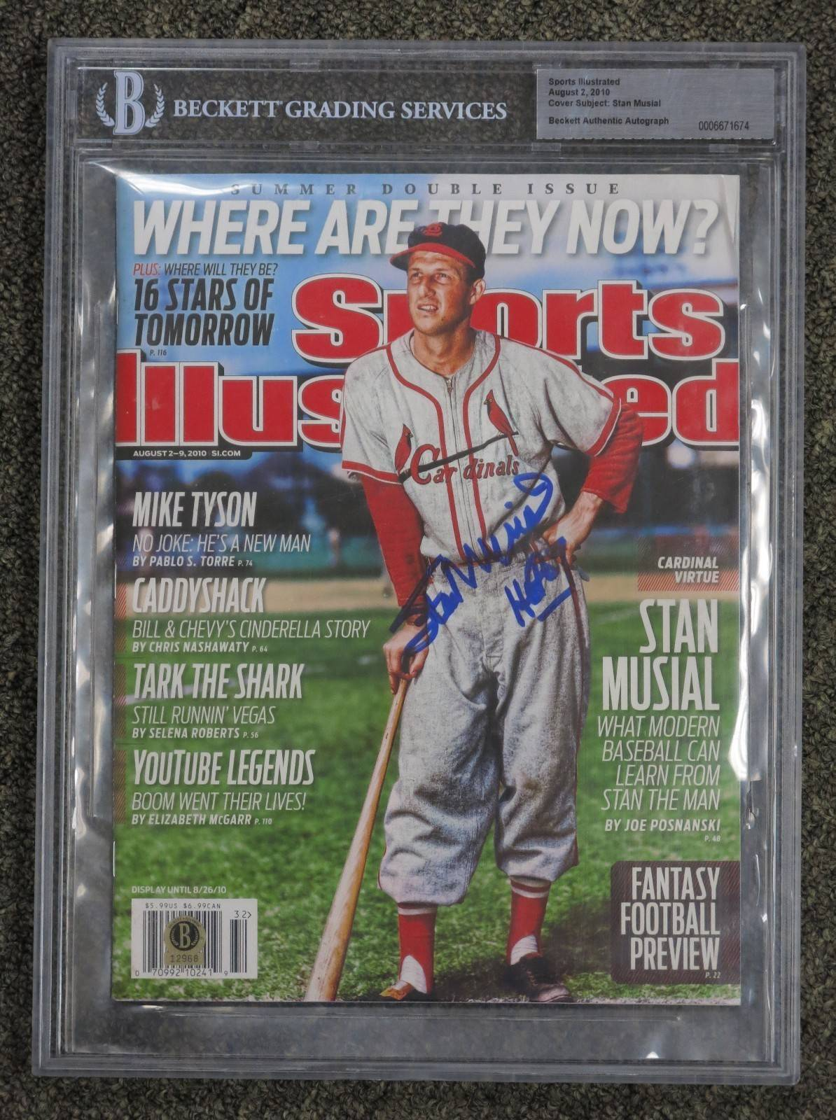 Stan Musial HOF Signed 2010 Sports Illustrated BGS AUTO Beckett Authentic