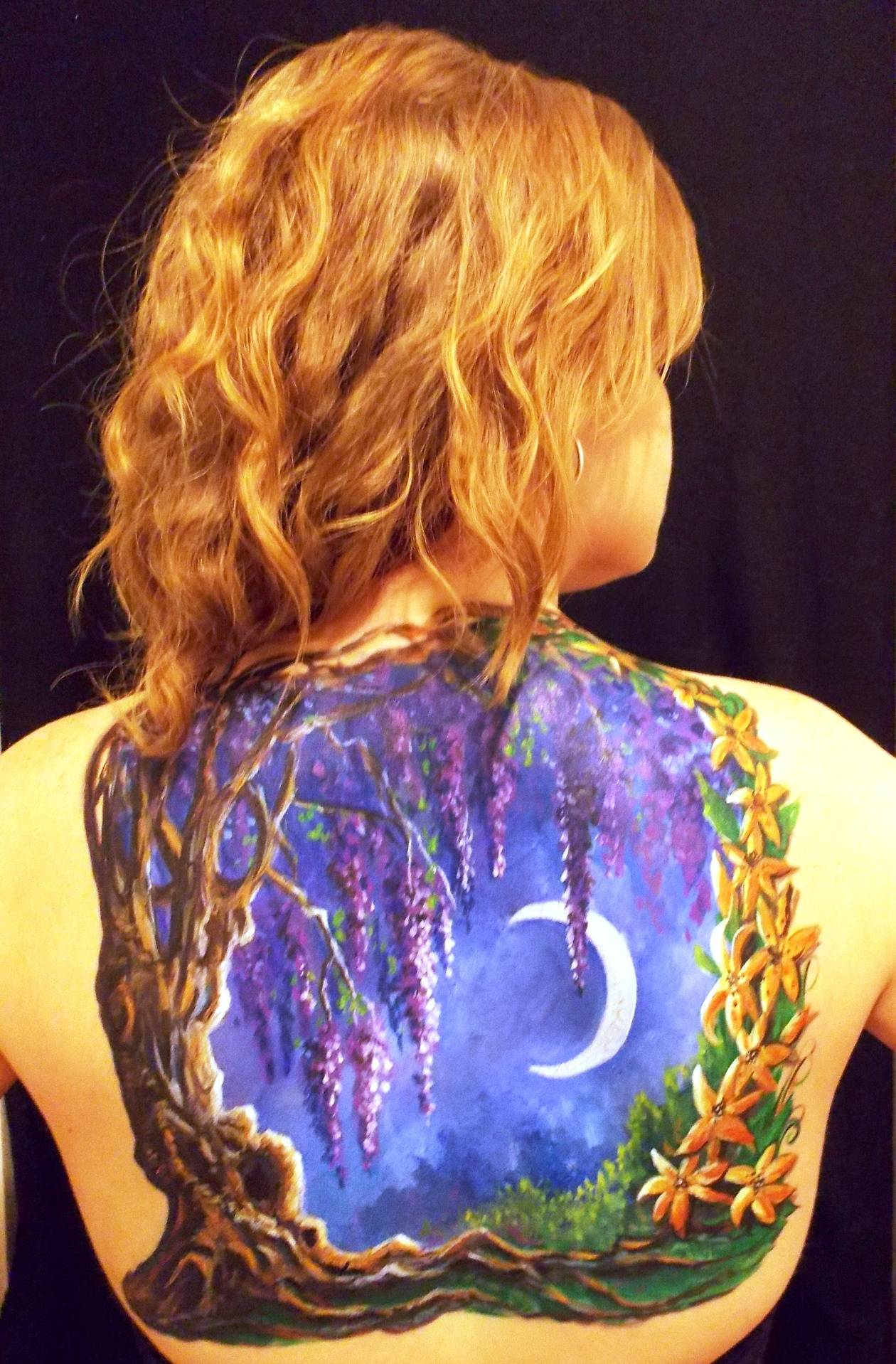 Wisteria Moon Back Painting