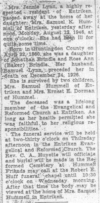 Lynn, Jennie Brindle 1946