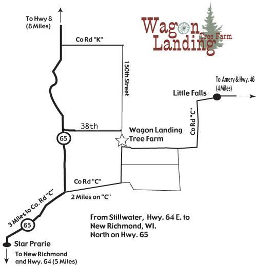 Wagon Landing Tree Farm, 327 E 150th St., Amery, WI, 54001, USA