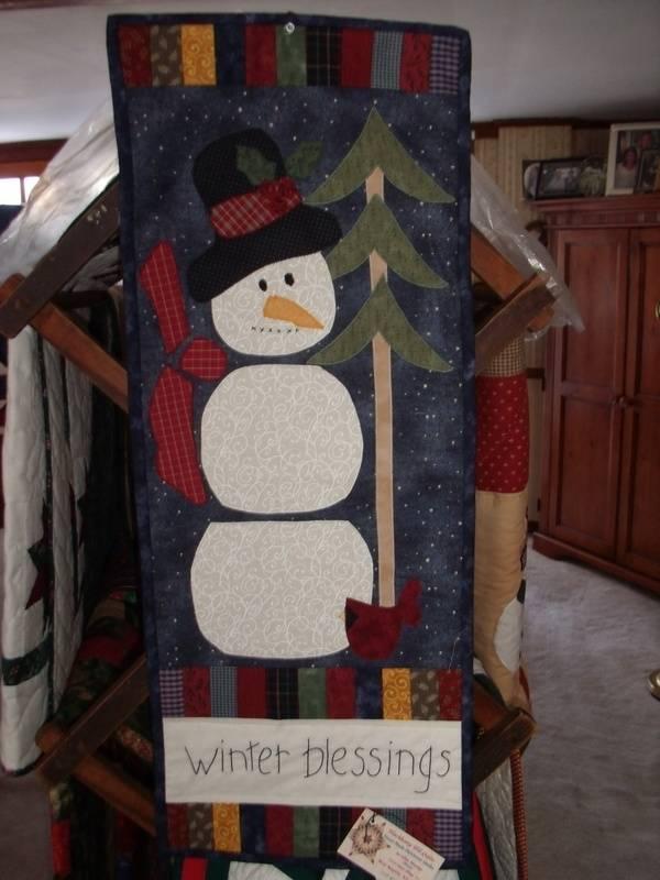 Winter Blessings Snowman Quilt