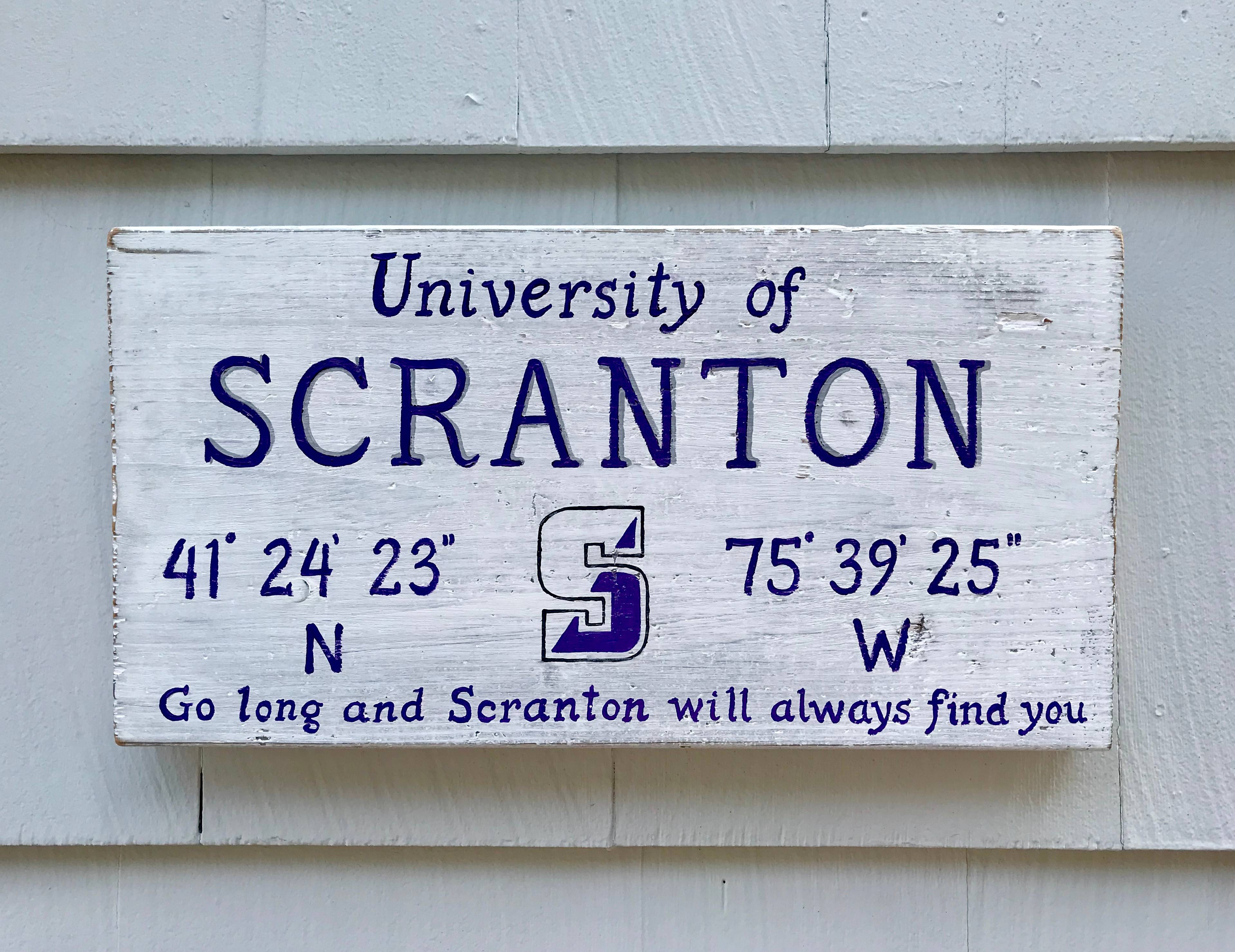 University of Scranton sign