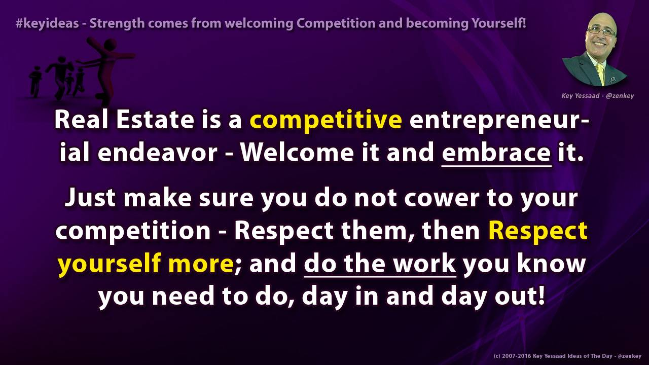 Strength comes from welcoming Competition and becoming Yourself