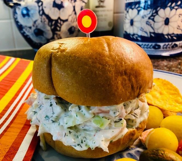 Shrimp Salad Po'Boy Sandwish