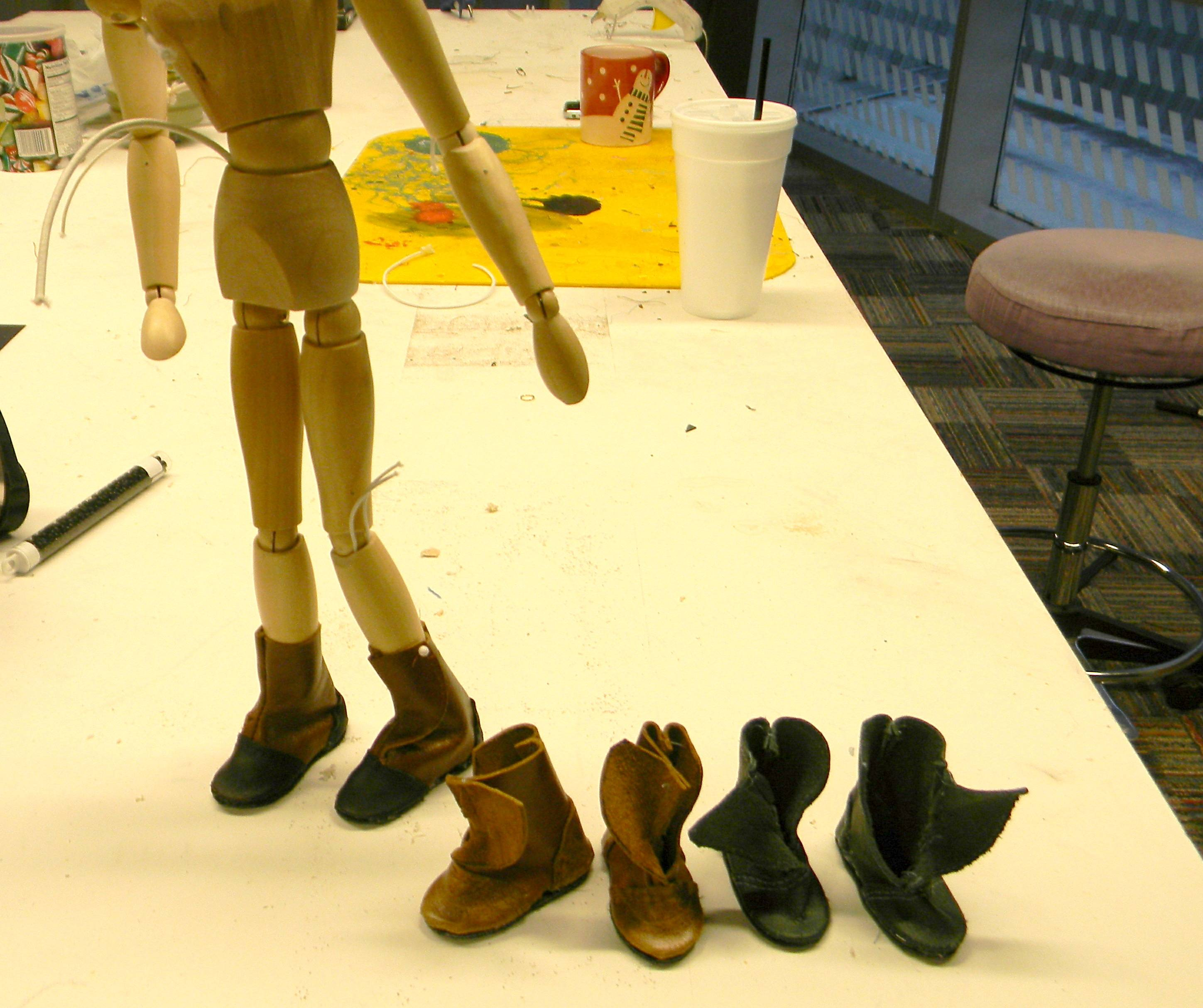 """Puppet Shoes for """"The Borrowers"""""""