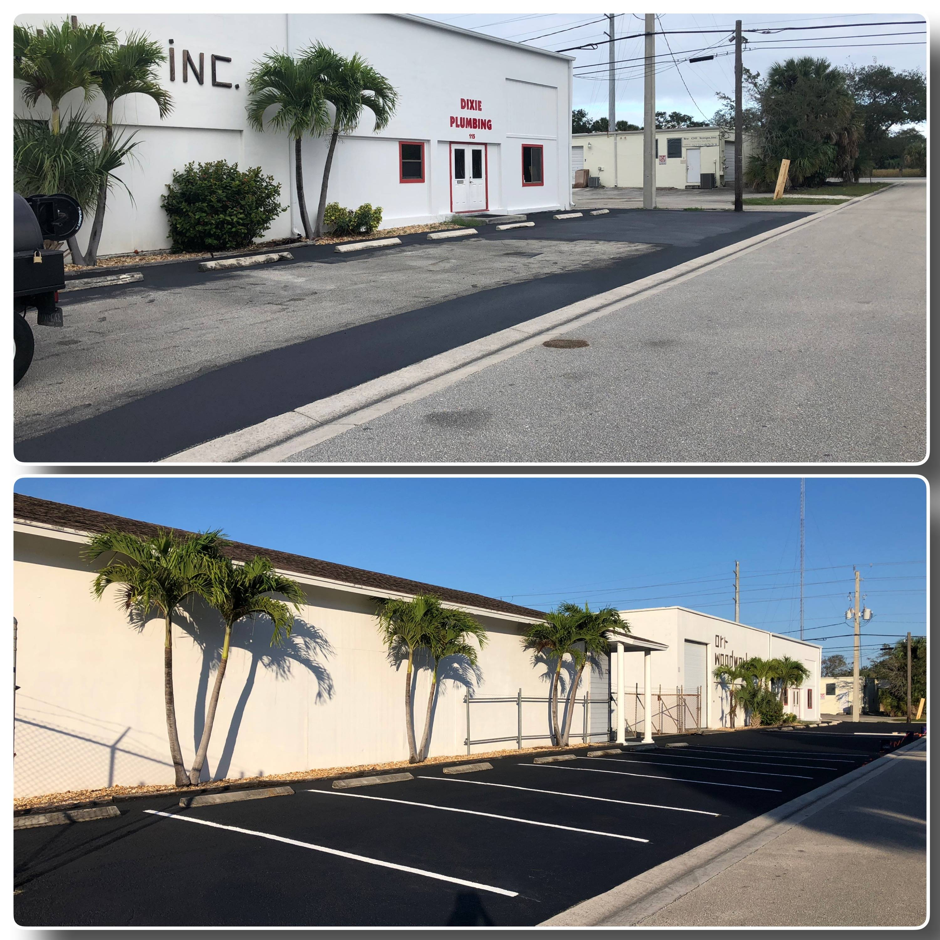 Commercial Asphalt Maintenance Sealcoating from our south Florida hun.