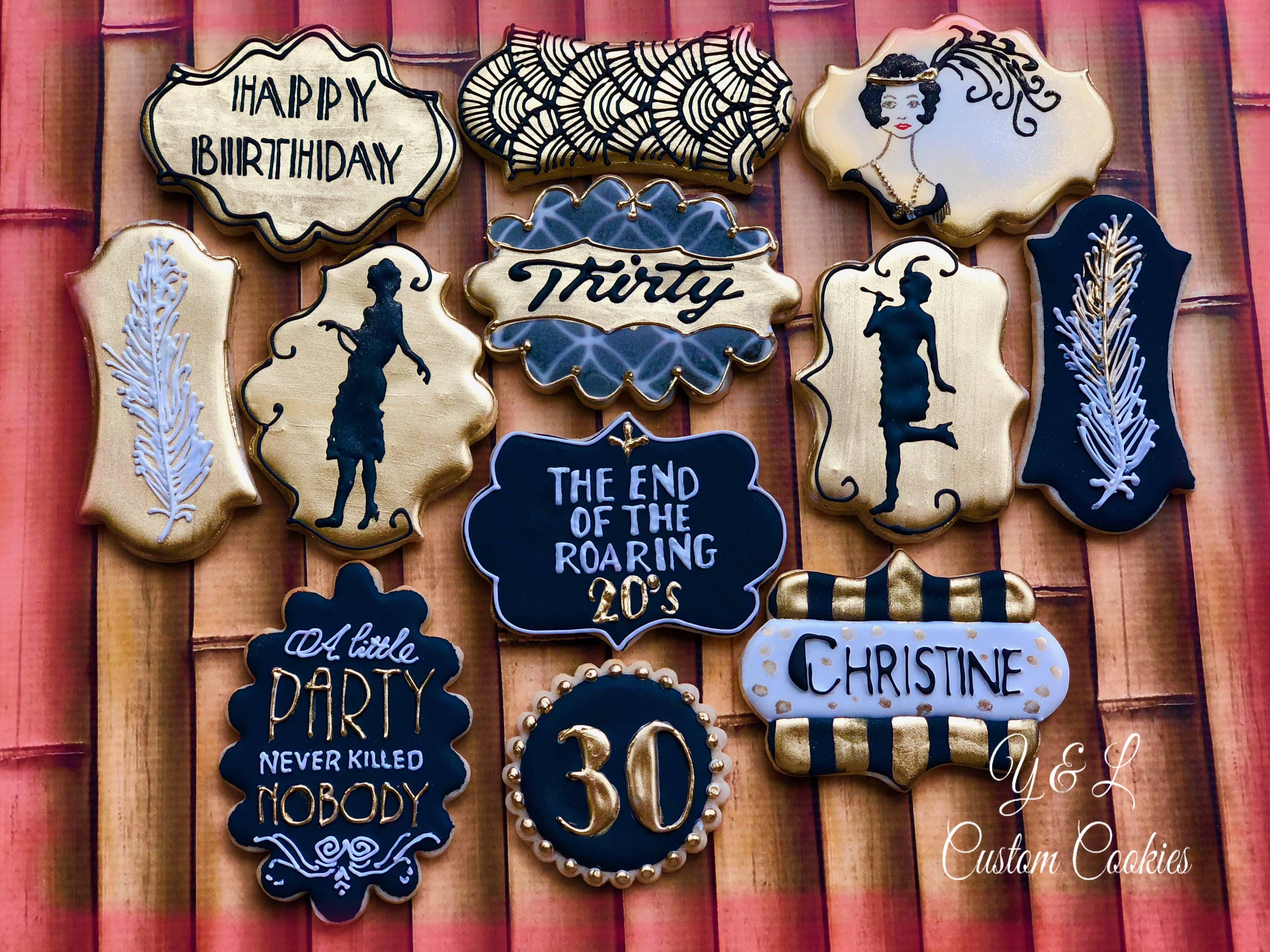 Birthday Cookies Roaring Twenties Theme