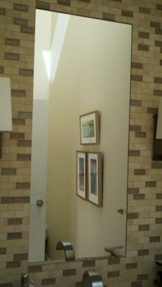 Mirror with tile around