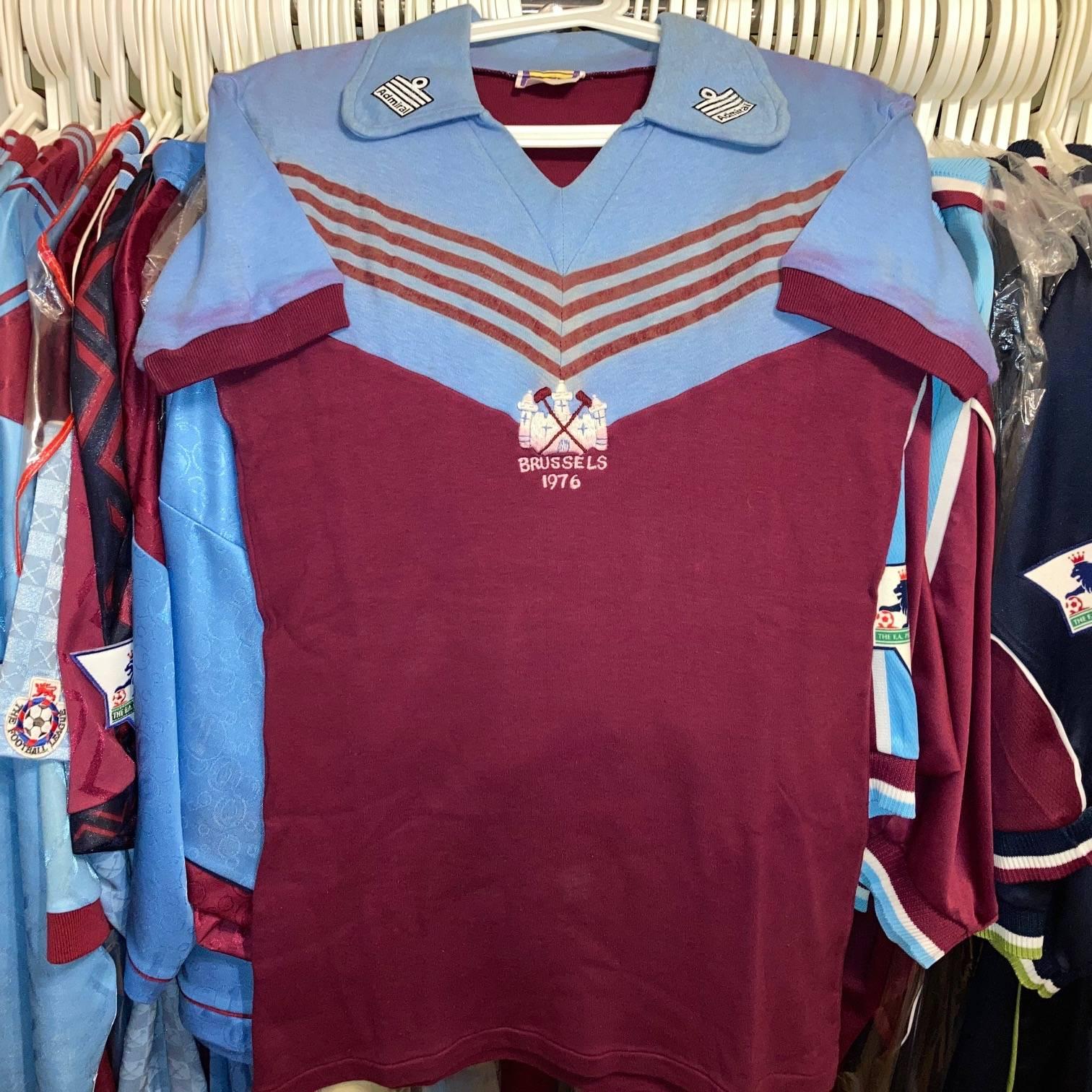 Graham Paddon 1976 ECWC Final 8 shirt