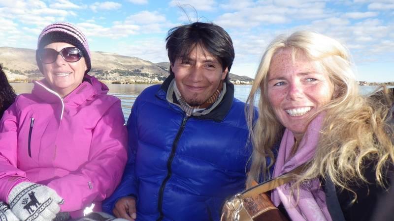 Enjoying a Ride on Lake Titicaca!
