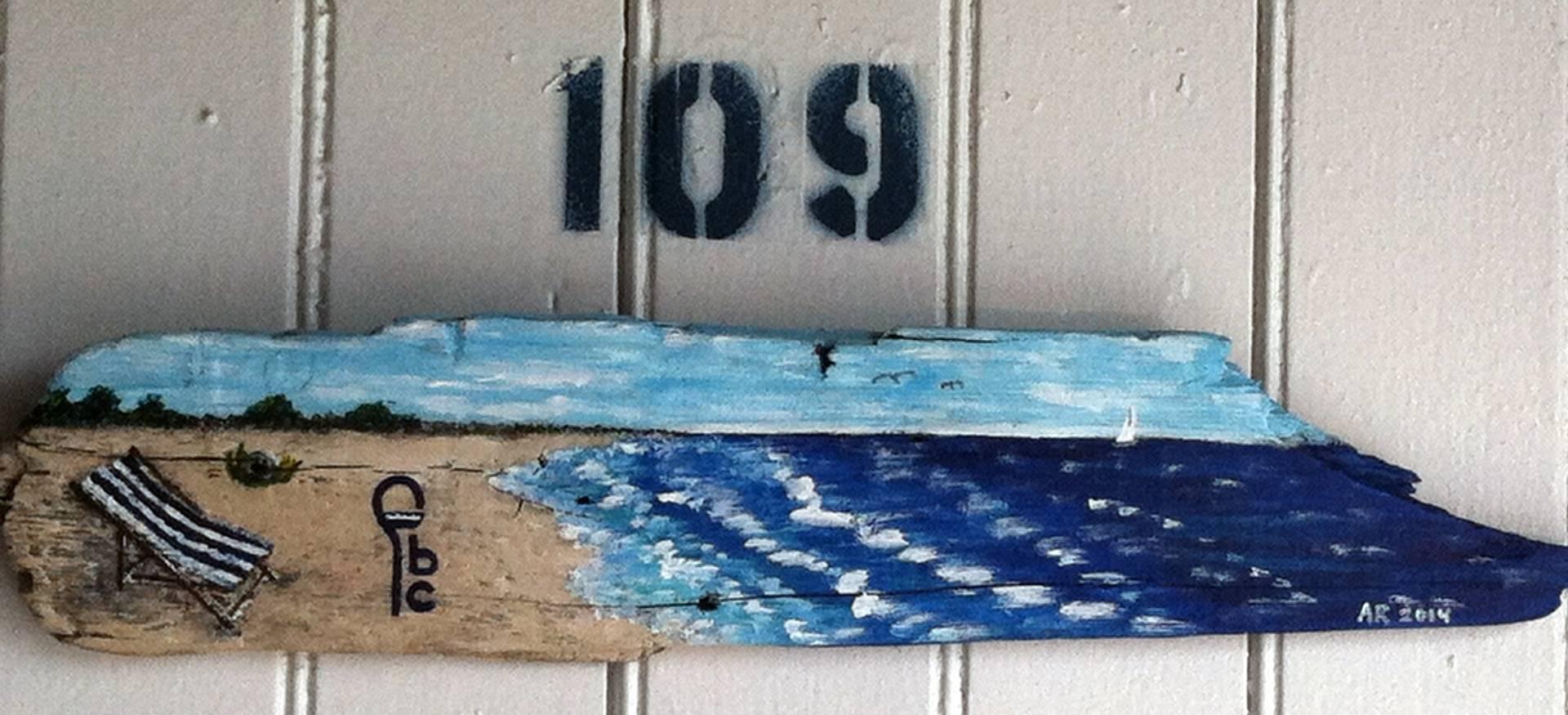 Beach Locker Sign