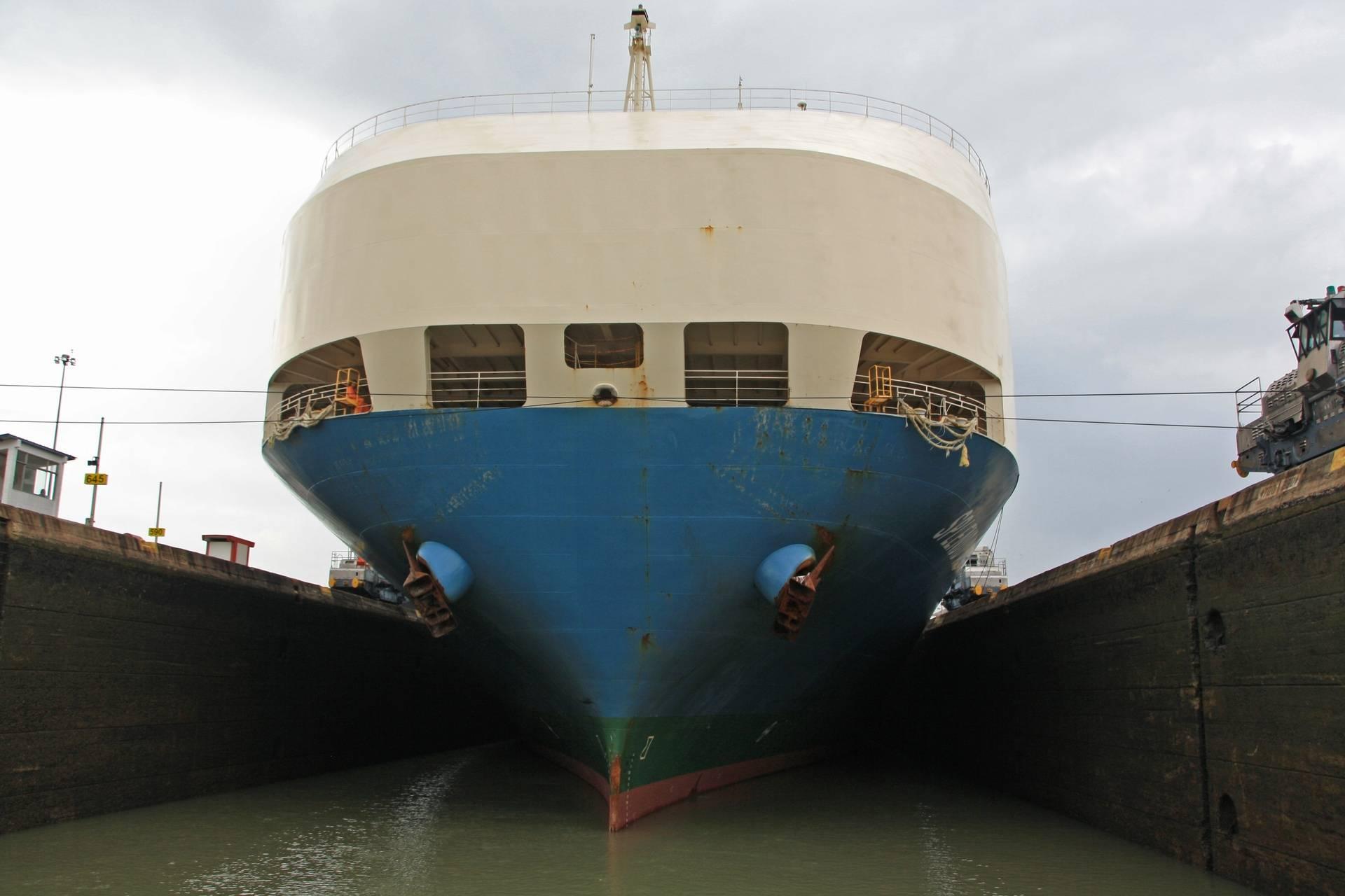 Panama Canal Cruise - ship in locks