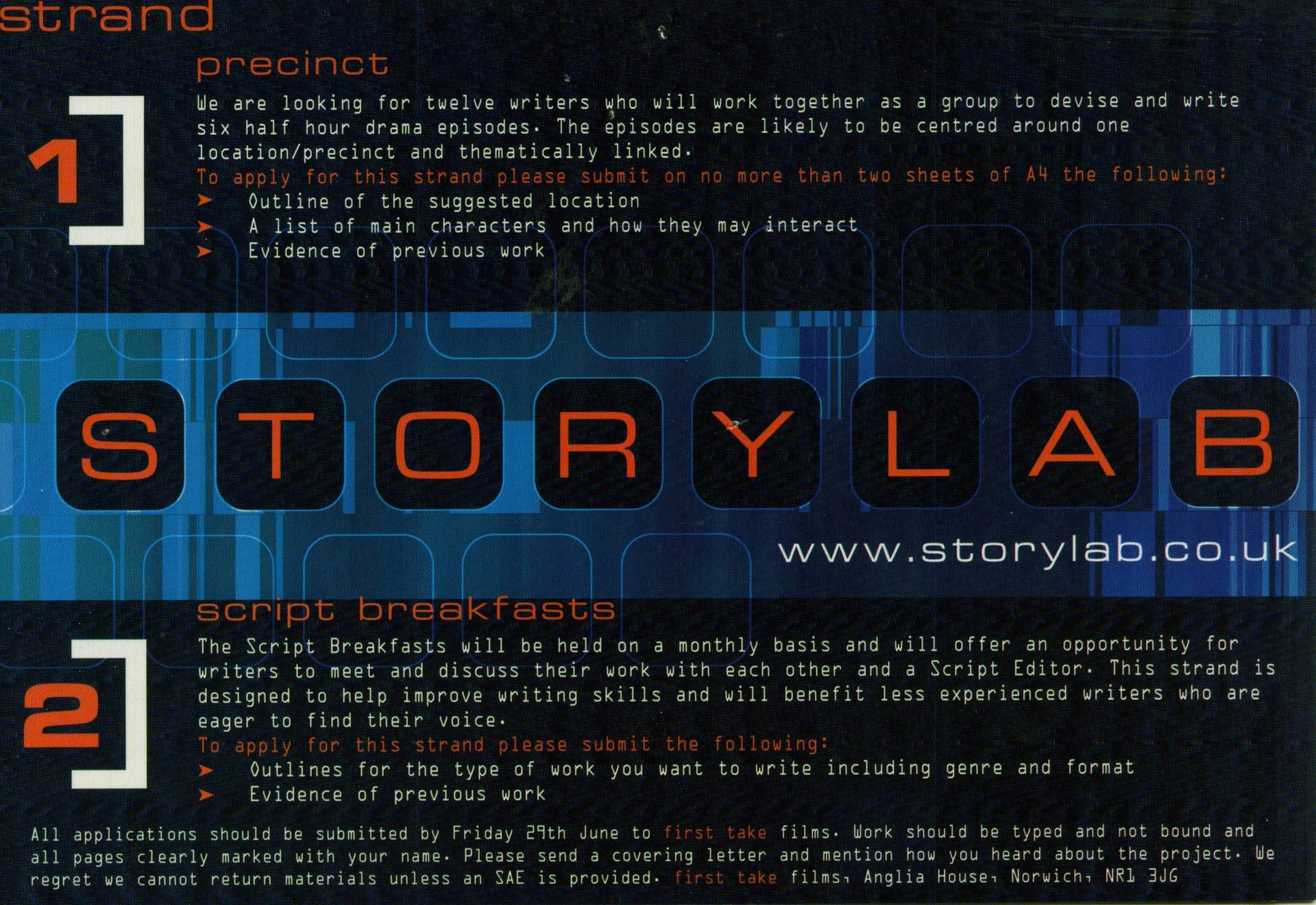 Storylab Script Breakfasts
