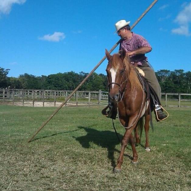 Practicing the Garrocha.