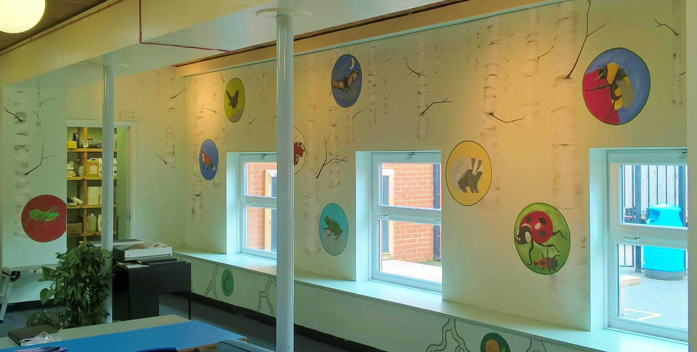 A woodland themed learning space
