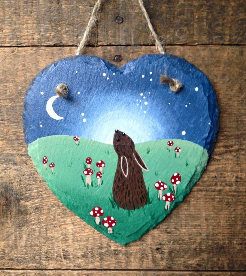 Small slate with a hare