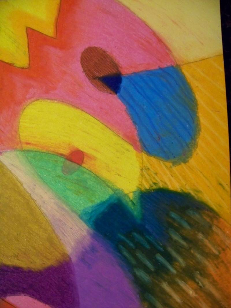 Abstract pastel