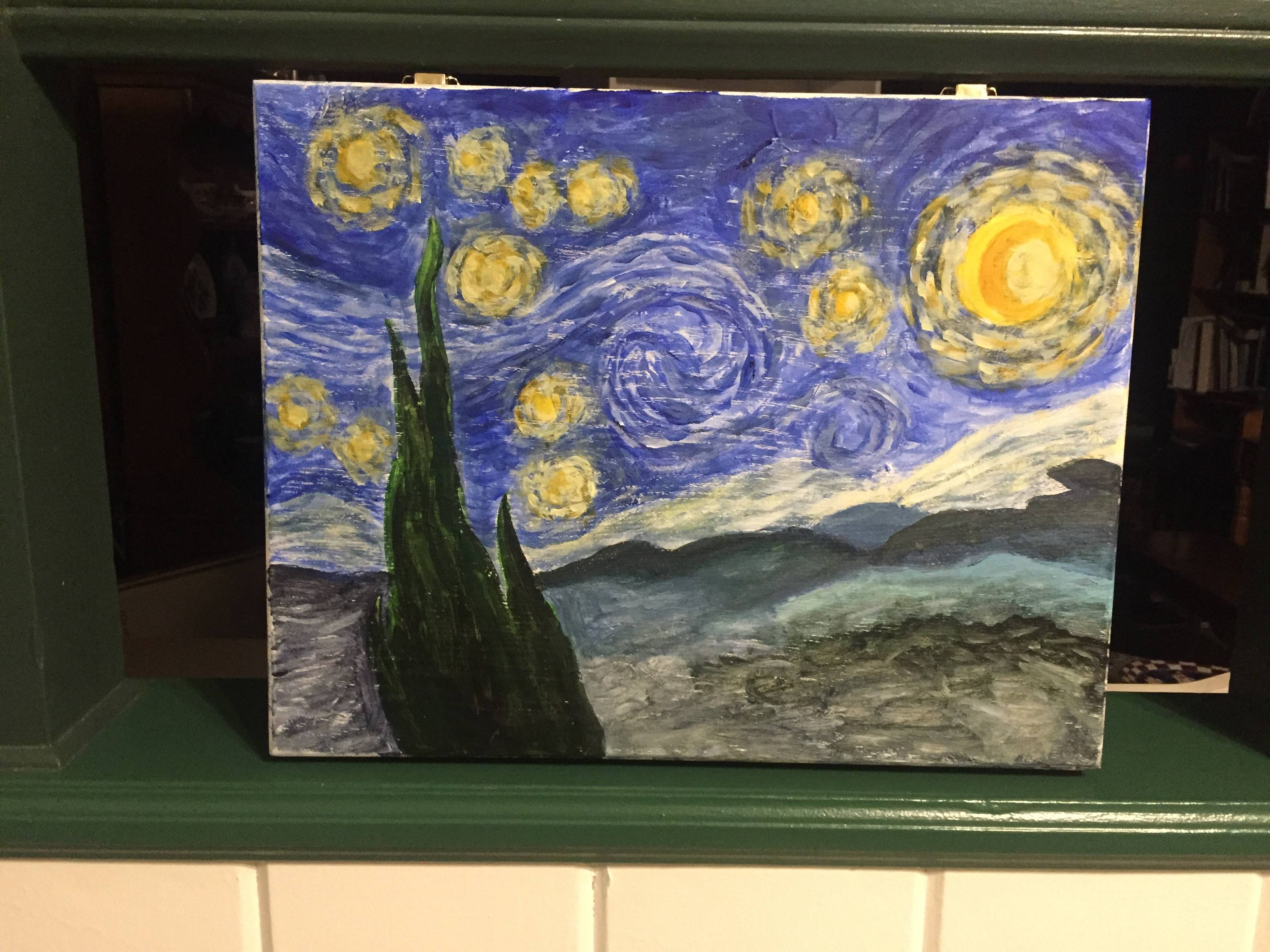 Starry Night on an art box
