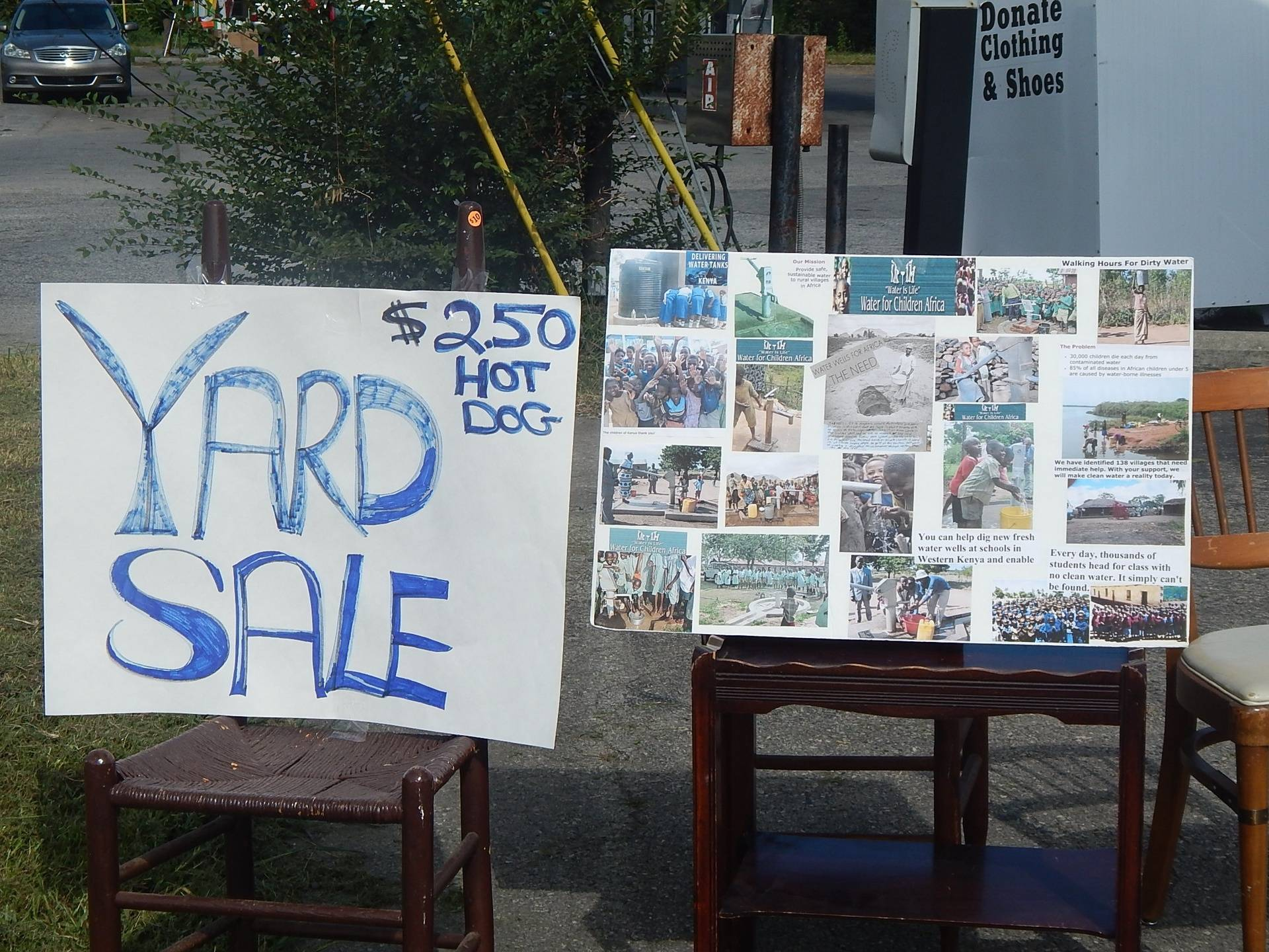 Yard Sale to Benefit Water Well