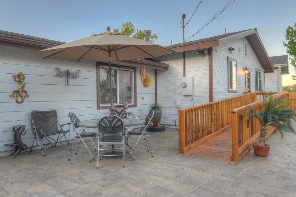 Backyard and ramp