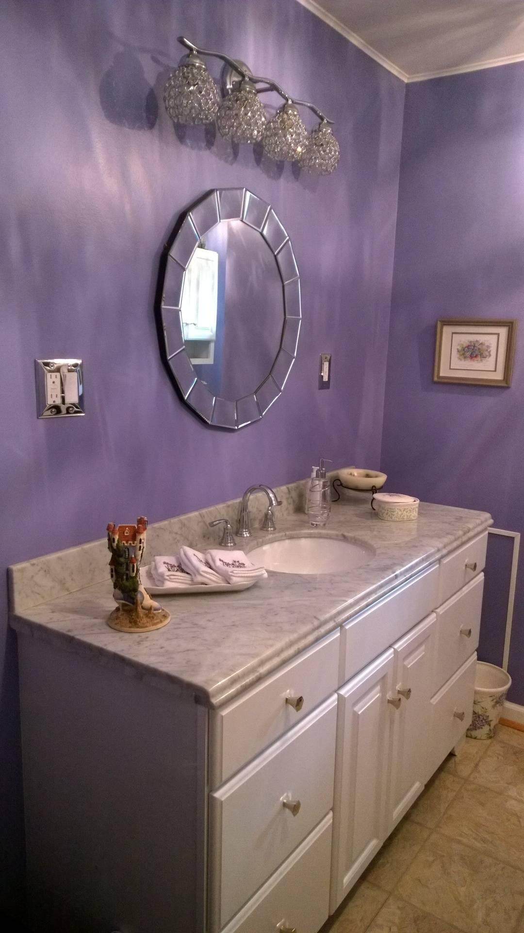 Completed vanity