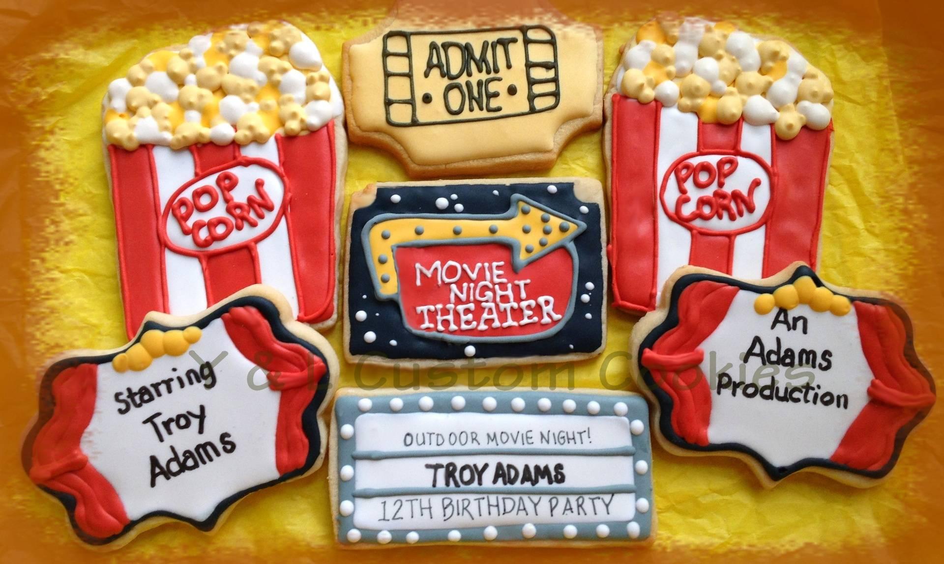 Birthday Cookies Movie Night Theme
