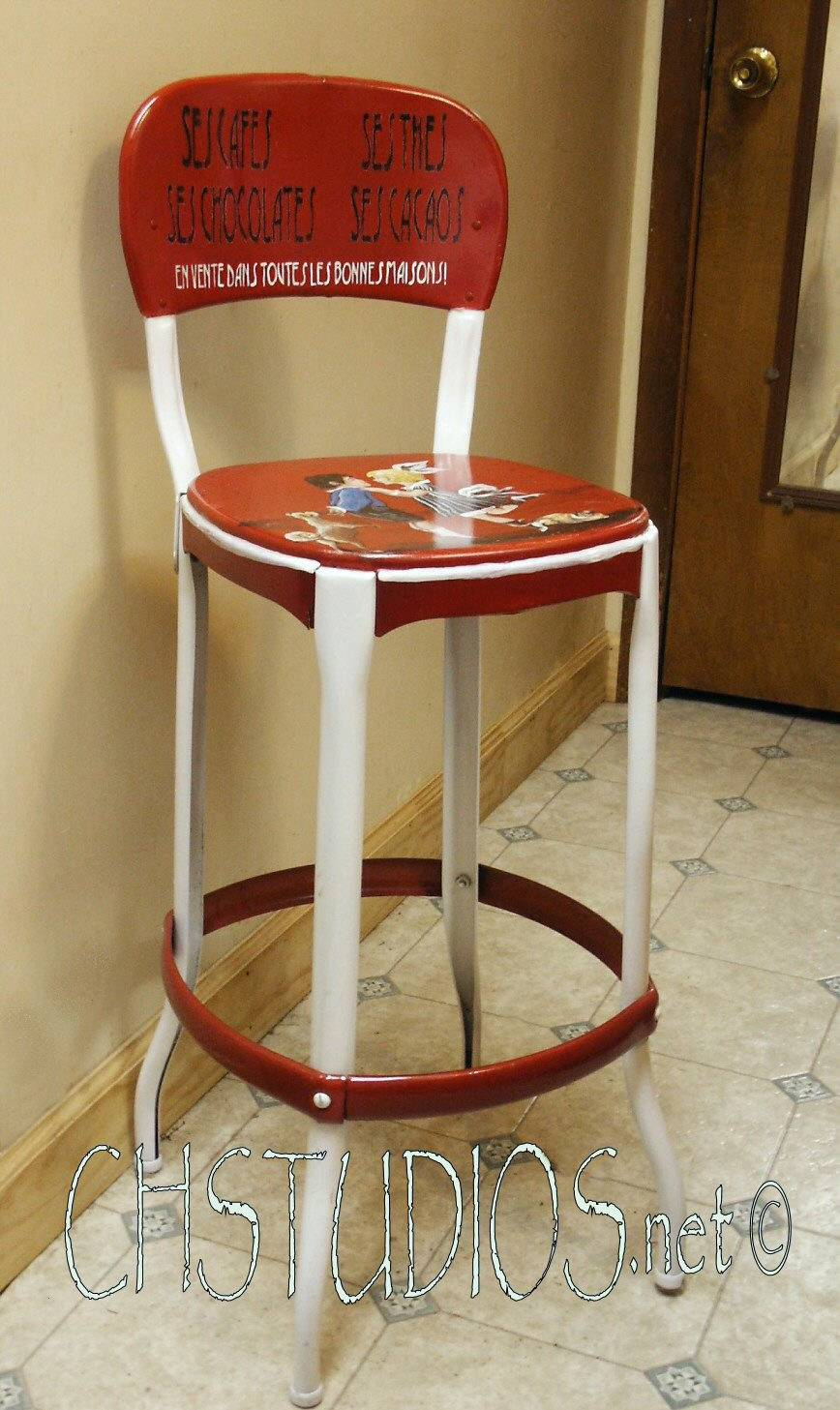 French Chocolate Kitchen Stool