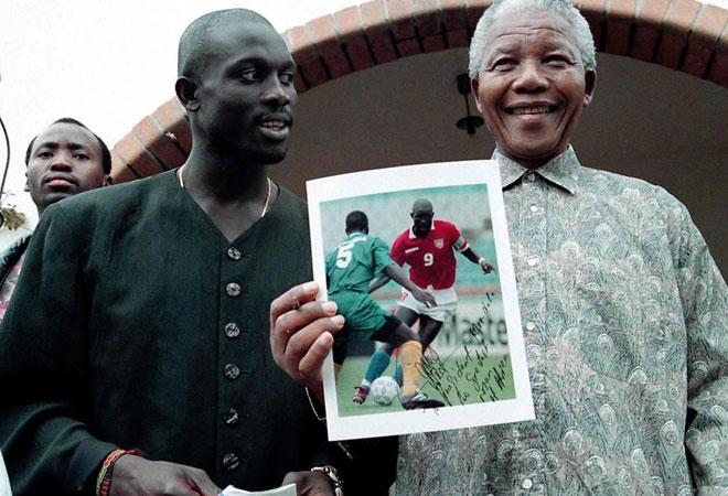Mandela and George Weah