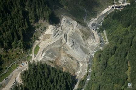 Ueberblick ueber die 3,5 km lange Baustelle