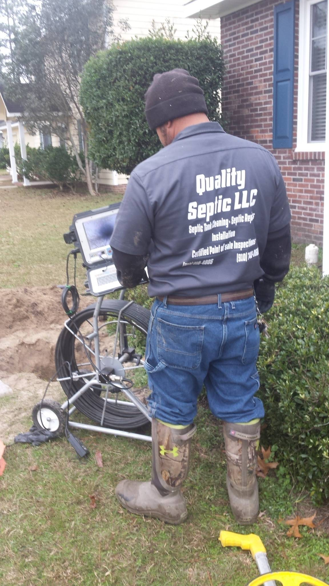 septic inspection with camera