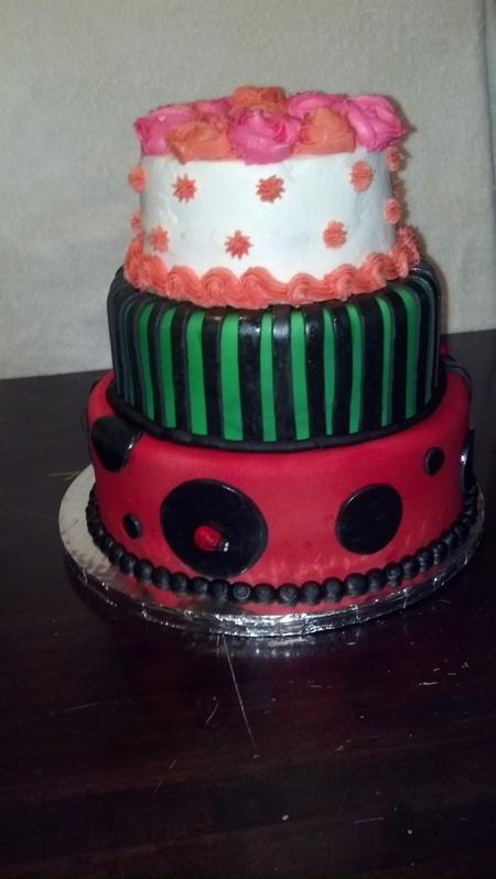 Ladybug-Inspired Photo Shoot Cake