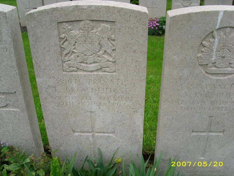 Pte. 351671 TOM BROADHURST 2/9th Bn.