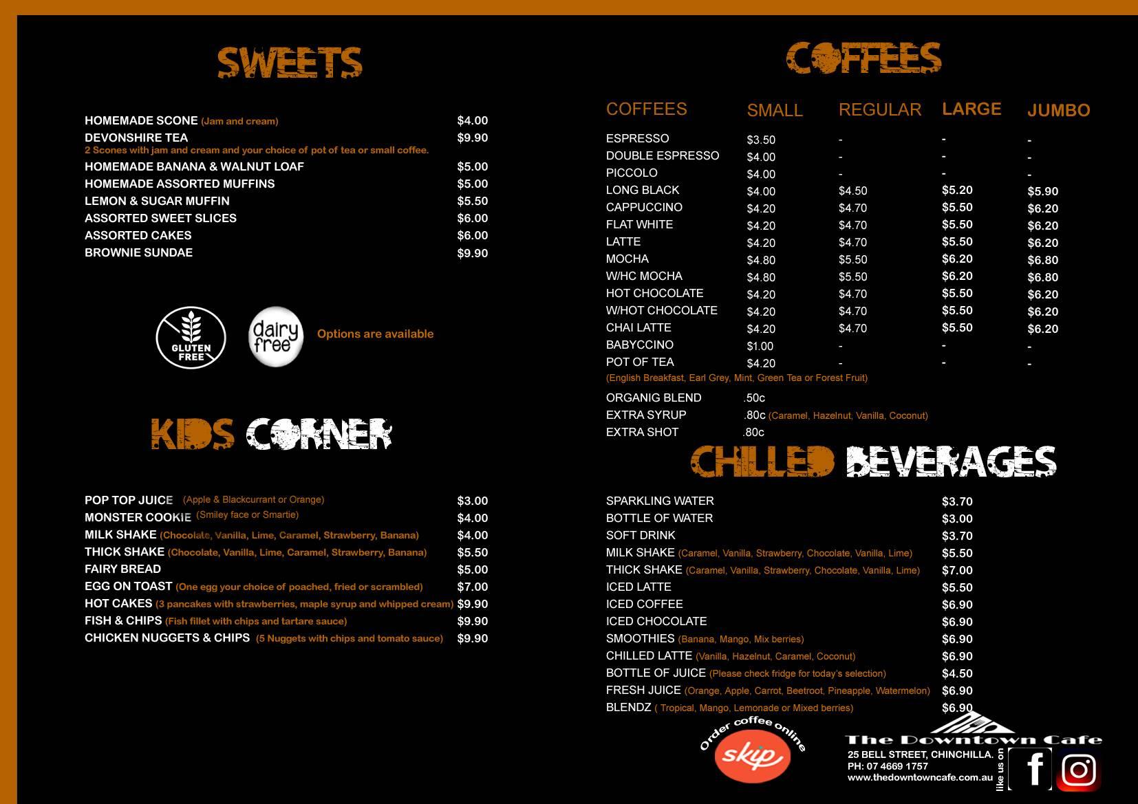 Hot & Chilled Beverages