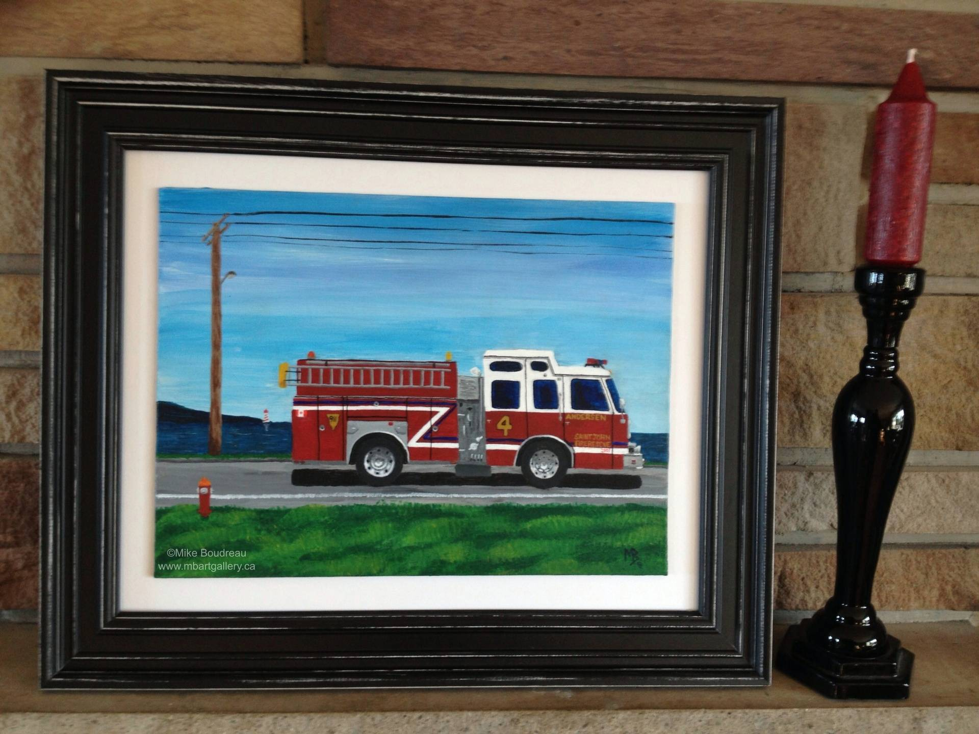 Fire Engine #4 Saint John, 10X8 SOLD