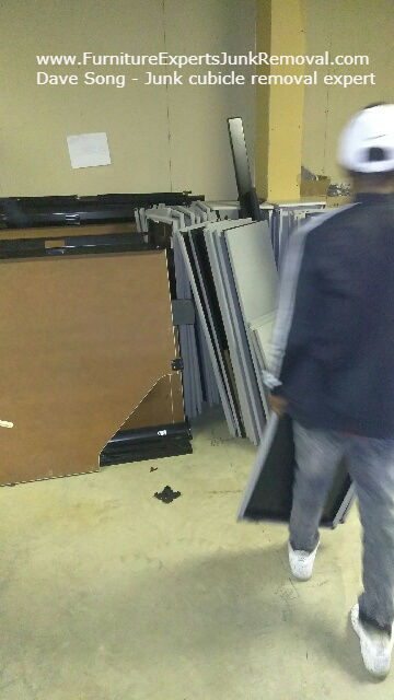 Junk office cubicle removal in arlington VA