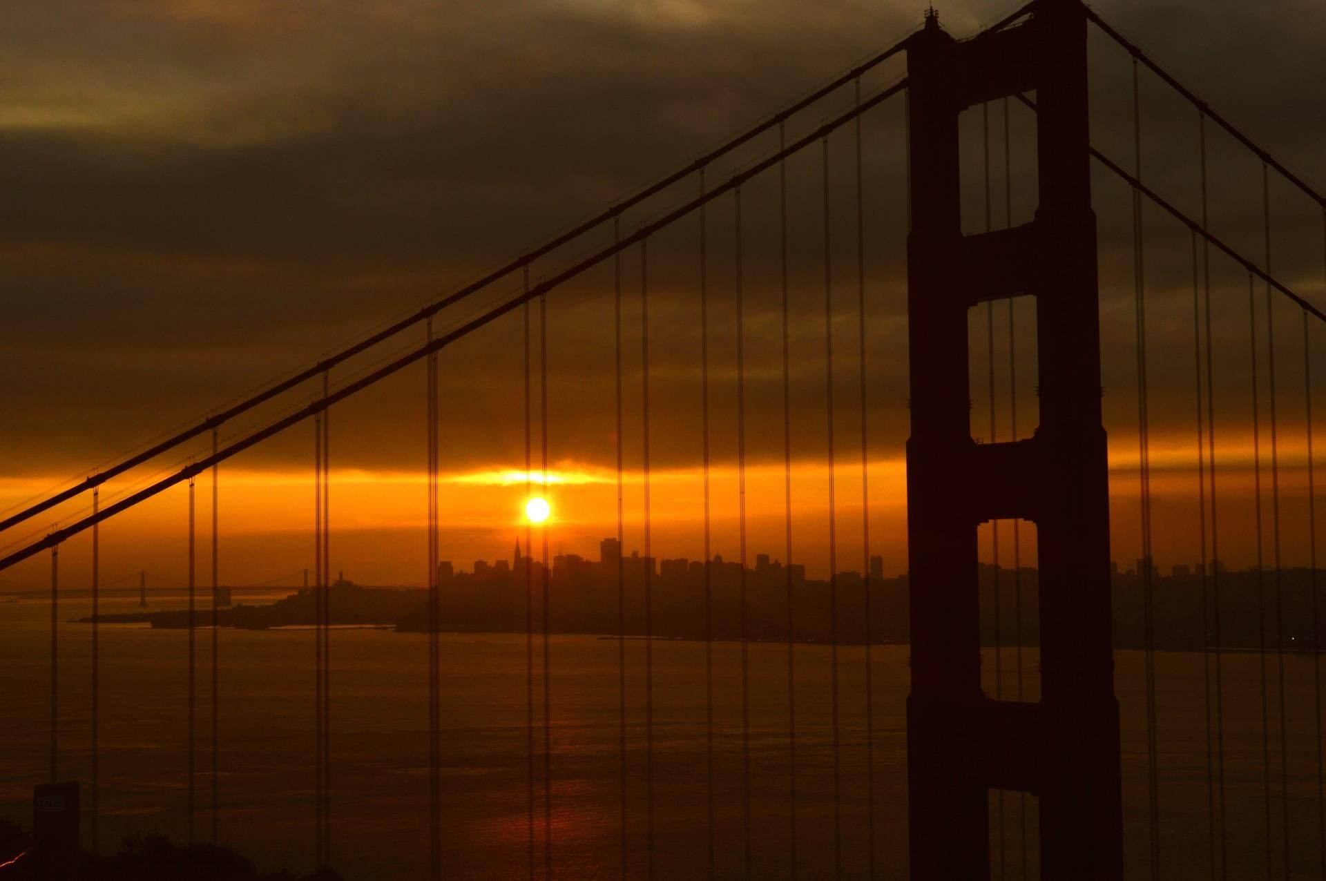 Cola Sky on the bridge at Sunrise