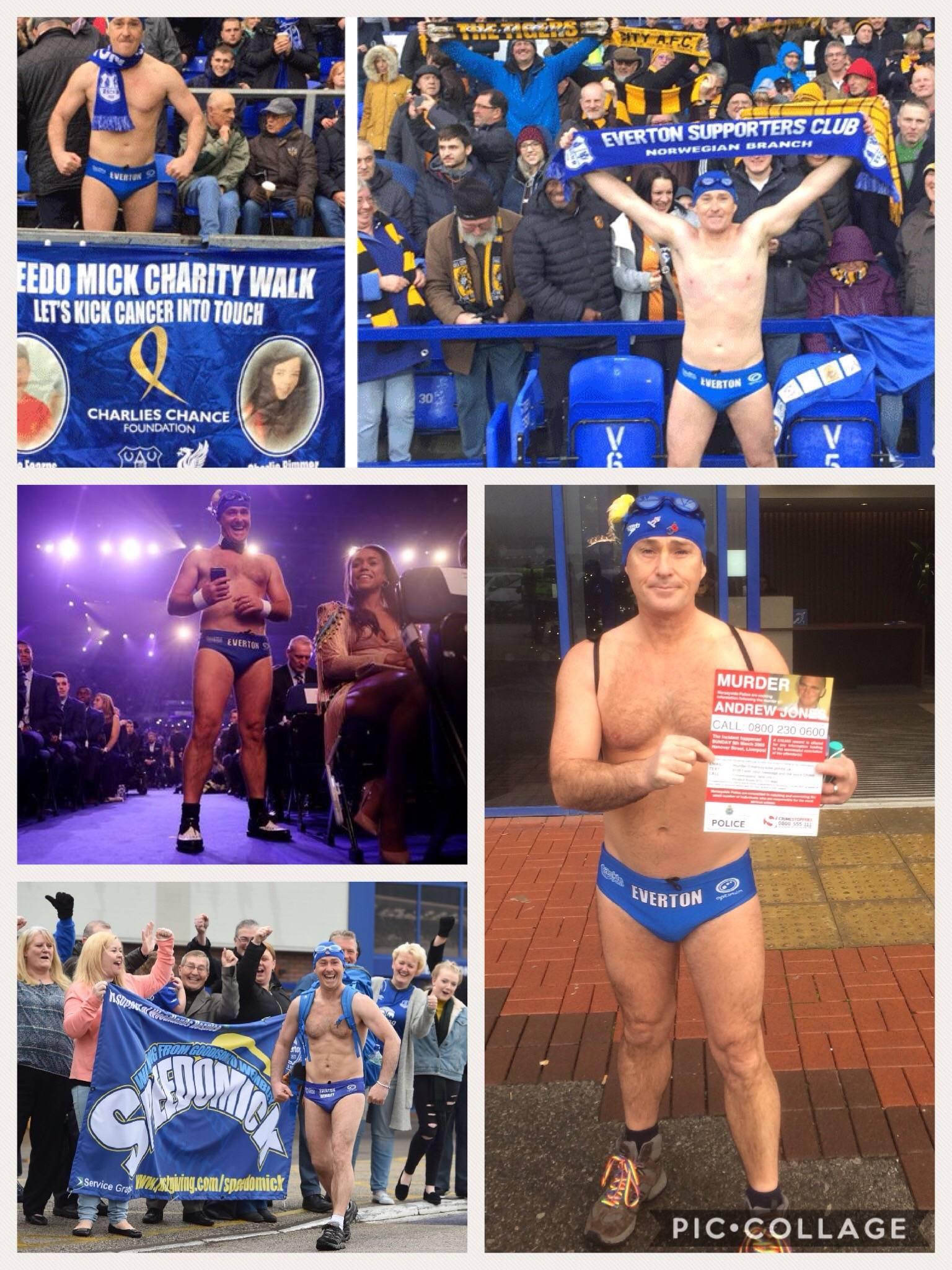 Speedo Mick (Everton FC fundraiser)