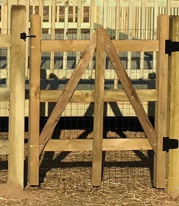Split Rail Wood Gate