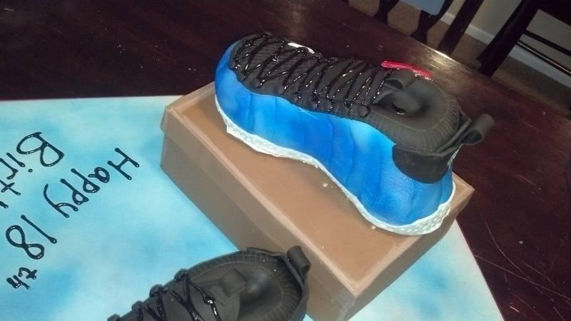 Nike Galaxy Foamposite Cake