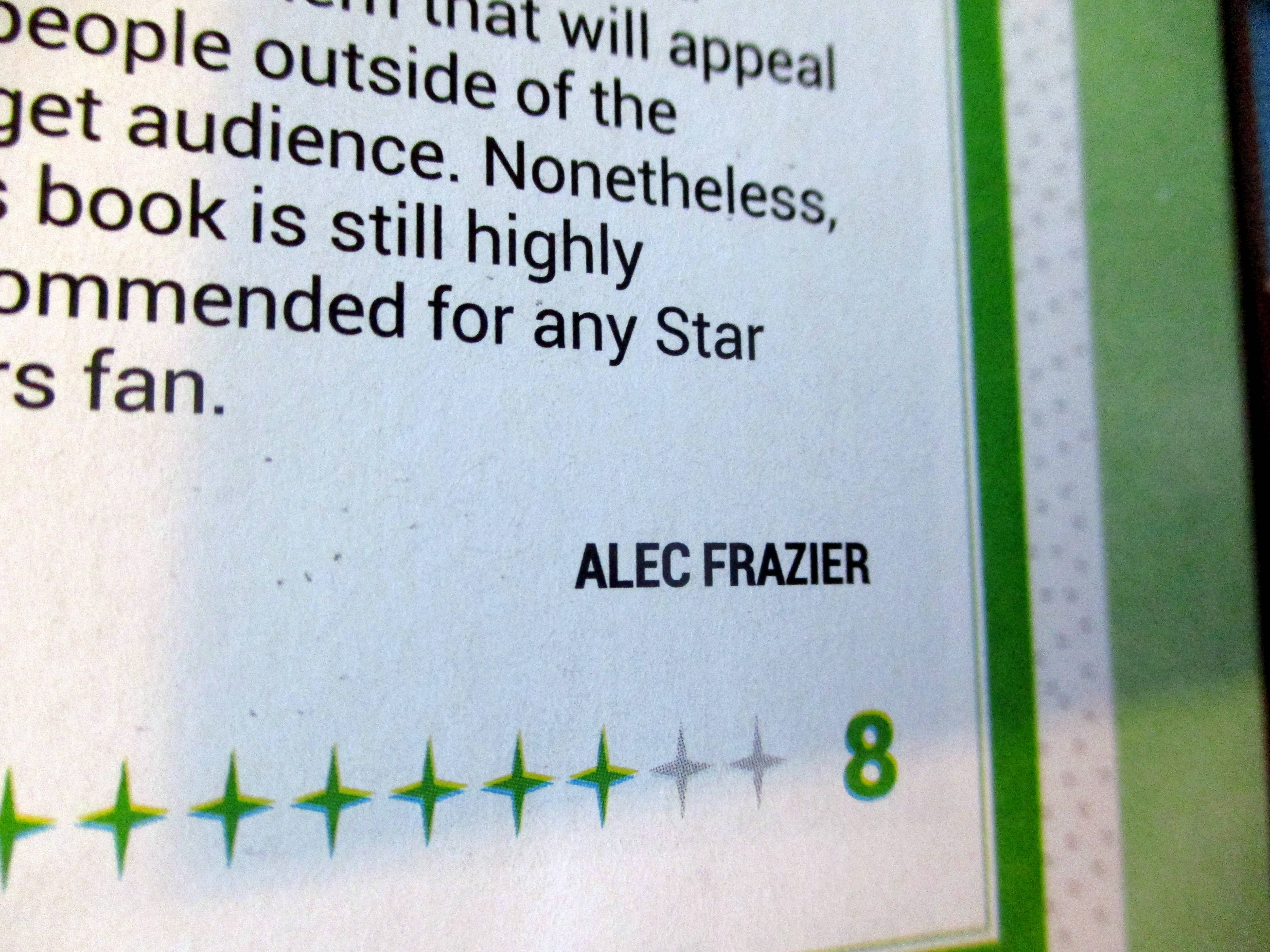 Byline in My Review of Star Wars Rebel Starfighters: Alliance and Resistance Models (Owners? Workshop Manual) in Starburst Magazine #468: 2020 Preview Issue Collectors? Edition