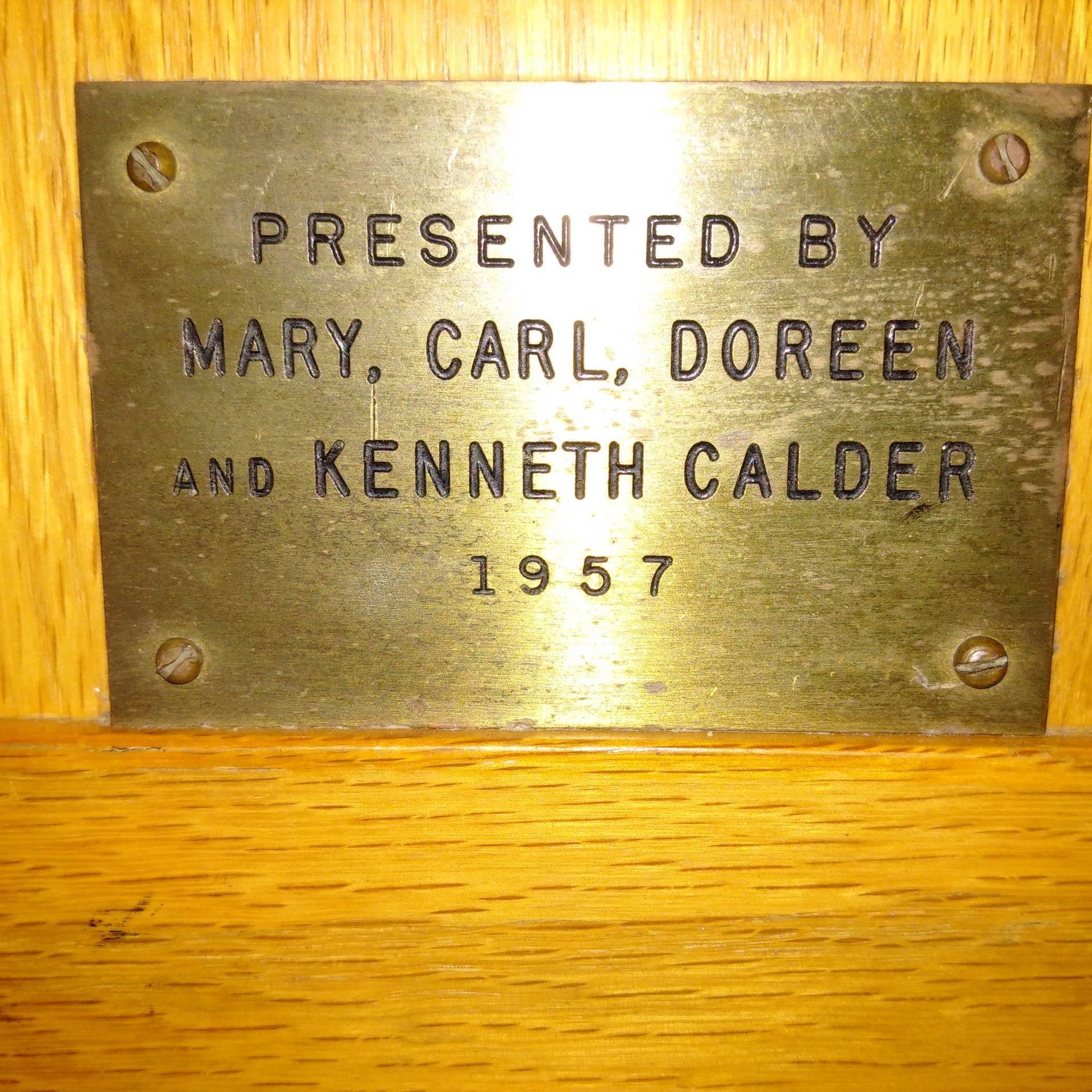 Mary, Carl, Doreen and Kenneth Calder 1957