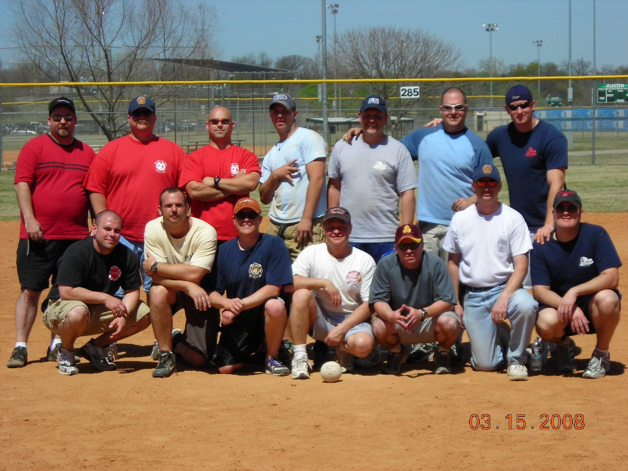 Softball Tournament - Cohnway far left, front row