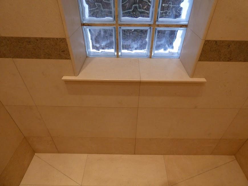 Limestone windowsill